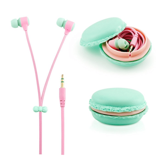 ear buds with macaroon case