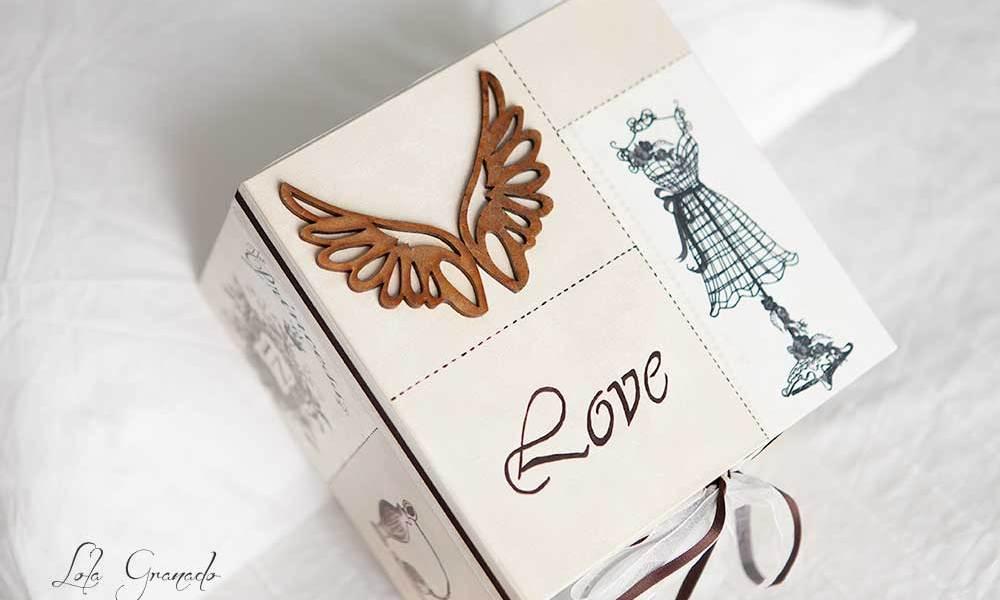 Caja princess con alas