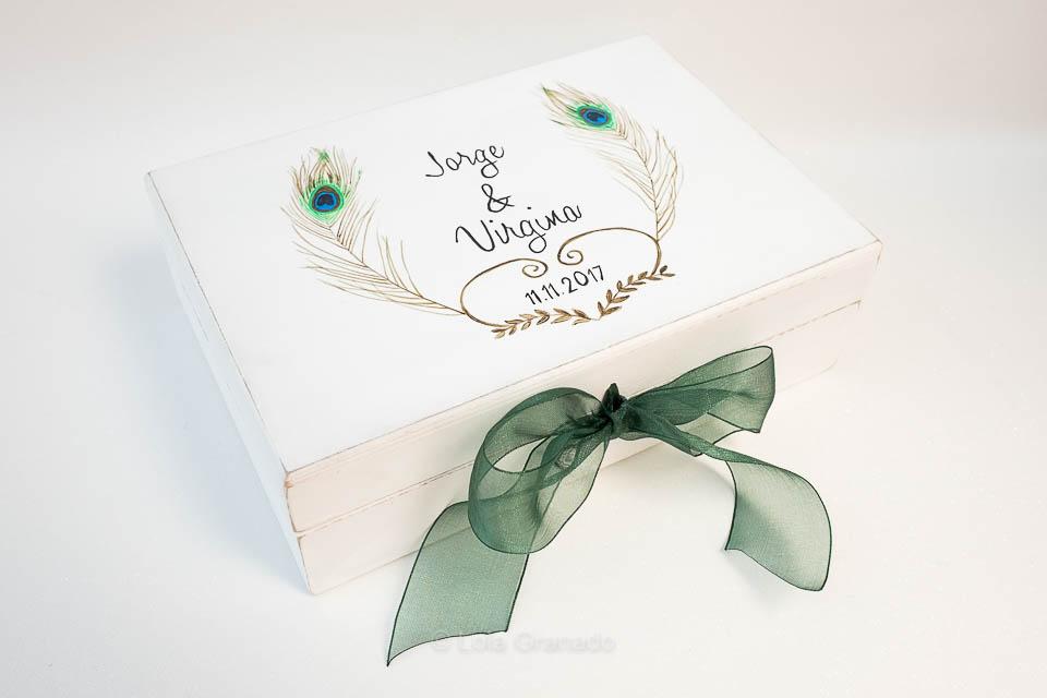 Caja arras boda Jorge y Virginia