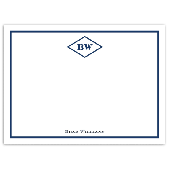 Mr. Diamond Notecard - Navy