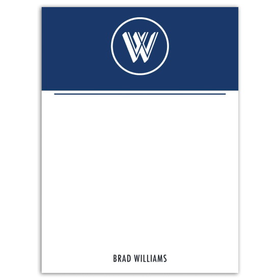 Mr. Monogram Notecard - Navy