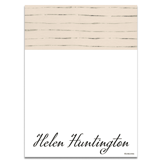 Platinum Stripe Notecards