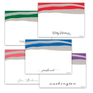 Color Swipe Notecards