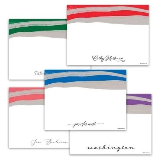 Color Swipe Notecards