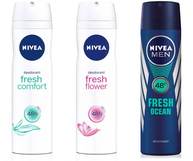 NIVEA Fresh Comfort & Fresh Flower & Fresh Ocean, spray