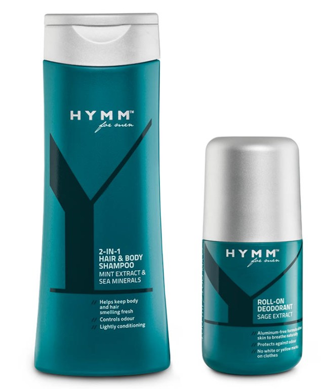 Amway Hymm for men, şampon 2 în 1 & deo roll-on