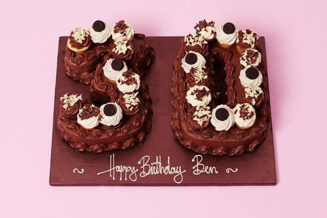 Chocolate Natural Mini Number Cake