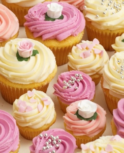 Buy Wedding Cupcakes Online from Lola s Cupcakes Pink  Mauve and Ivory Wedding Cupcakes