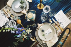 Tafelstyling & more in Teal & Gold: 21-diner Orla
