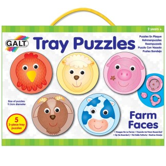 Tray Puzzles Farm Faces