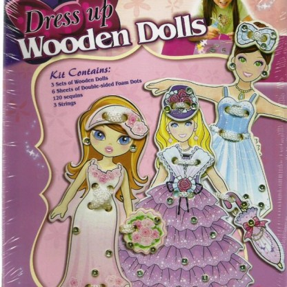 Dress up Wooden Dolls
