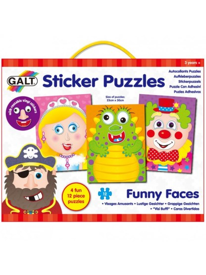 Sticker Puzzles - Funny Faces