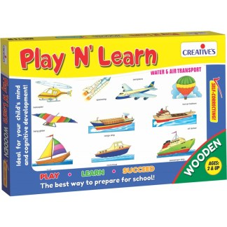 Play & Learn – Wooden puzzle – Water & Air Transport