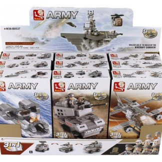 Aircraft Carrier Navy Battle Ship 9 in 1 - Air - Land - Sea Forces