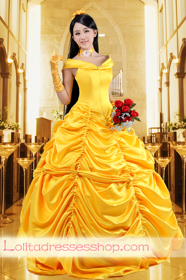 Cheap Disney Princess Beauty and the Beast Belle Cosplay ...