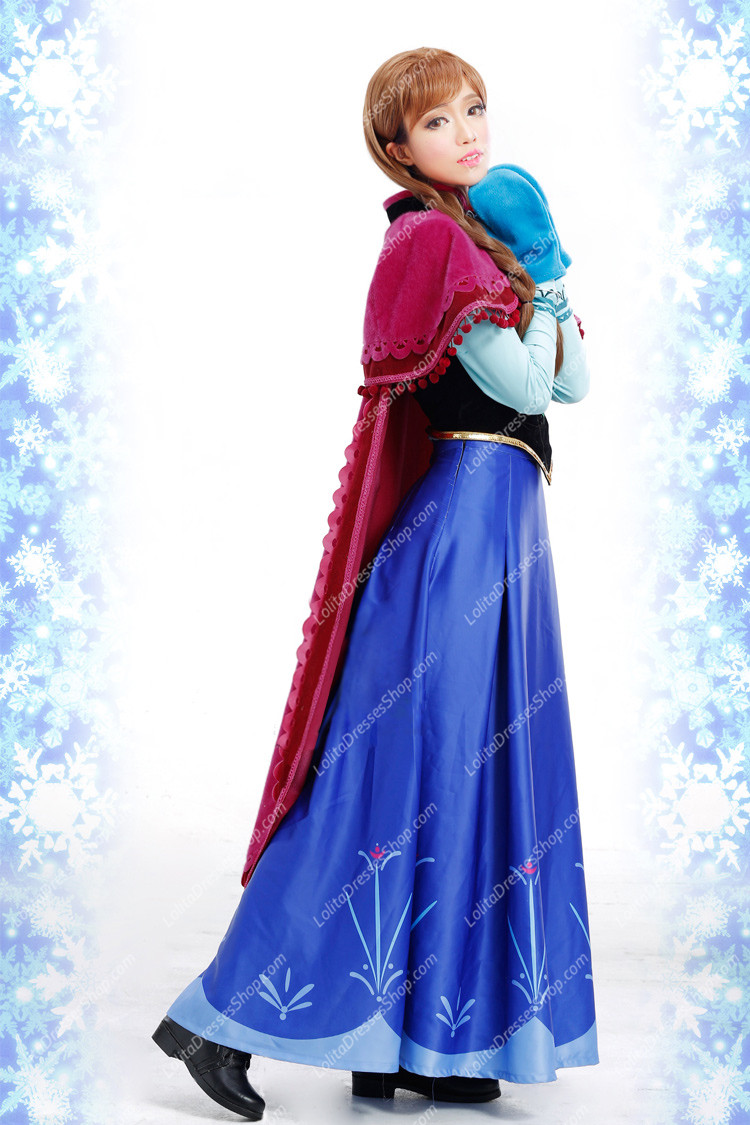 Cheap Frozen Disney Movie Cosplay Anna Costume Outfit