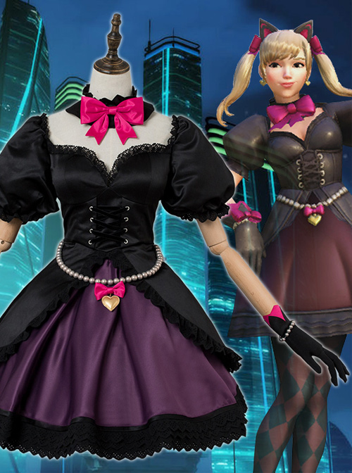 Cheap Overwatch DVa Black Cat Cosplay Costumes Sale At