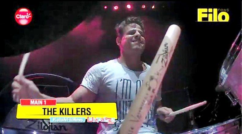 El baterista The Killers