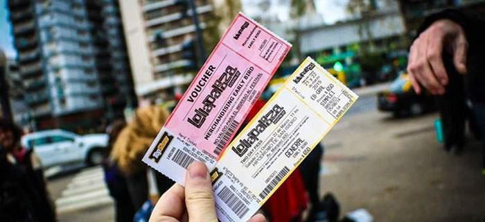 Entradas por día Lollapalooza 2019