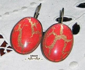 Boucles d'oreilles craquelées