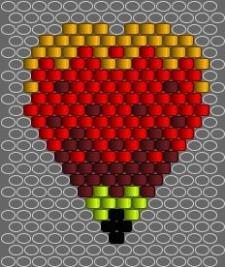 Broche fleur schéma