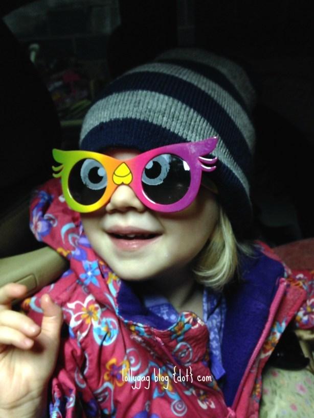 christmas tree owl glasses