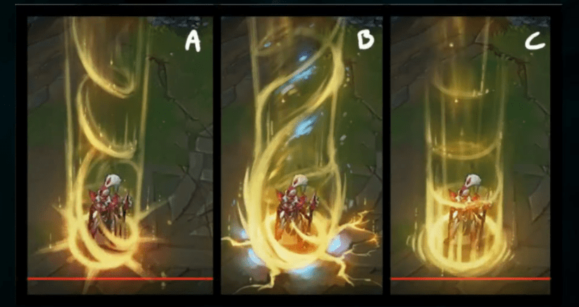 Recall animation for League of Legends Challenger Players