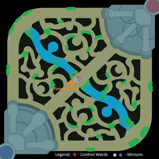 Mid wards around the top lane