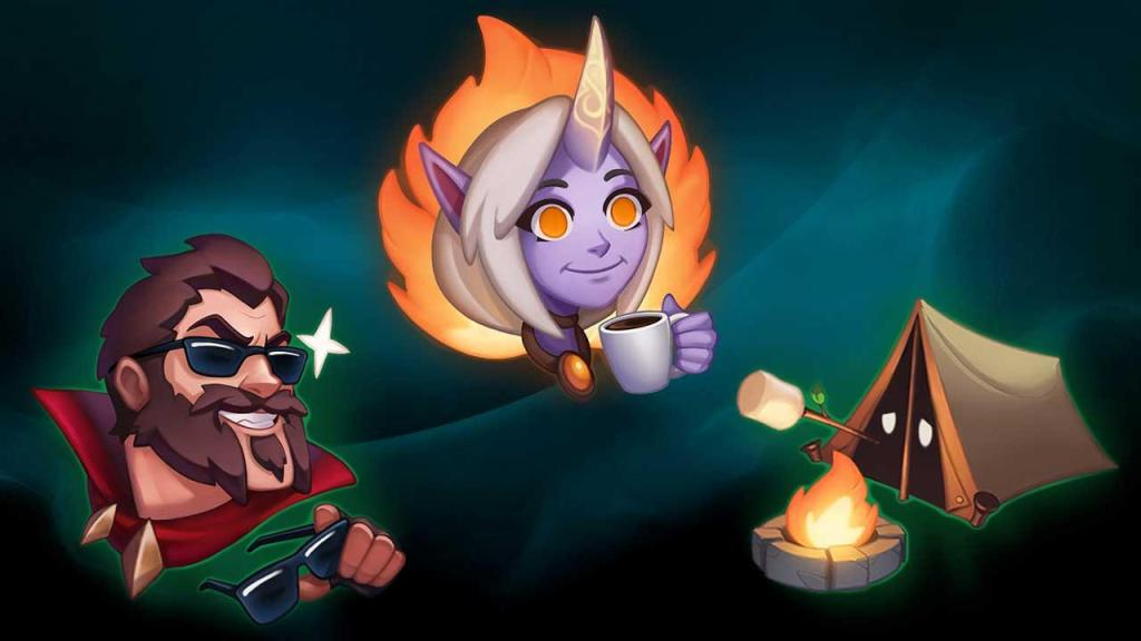 Graves, Soraka and a tent emotes