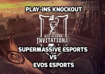 SuperMassive vs EVOS Esports