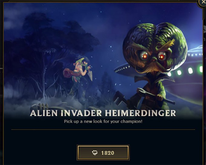 Alien Invader Heimerdinger is on Sale Exactly on Area 51 Raid