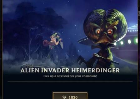 Alien Invader Heimerdinger is on Sale Exactly on Area 51 Raid