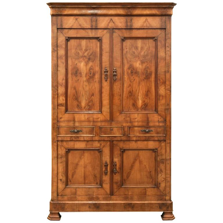 antique french louis philippe style four door armoire