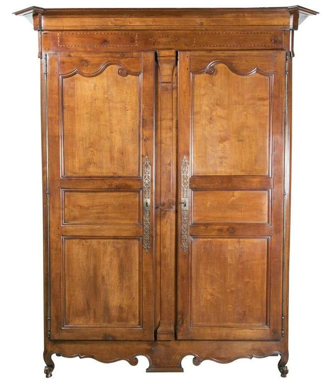 louis xv period cherrywood armoire