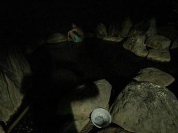 Bain de nuit au onsen prés du Lac Kussharo avec Dai et Lital