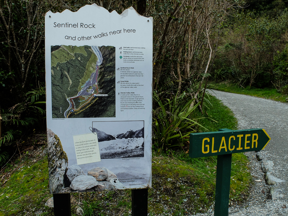 Sentier Sentinel Rock vers le glacier Franz Joseph