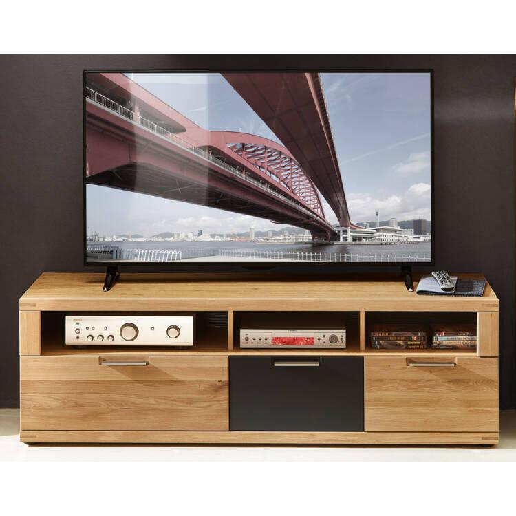 tv lowboard 160cm in wildeiche bianco bozen 36 massivholz fronten b h