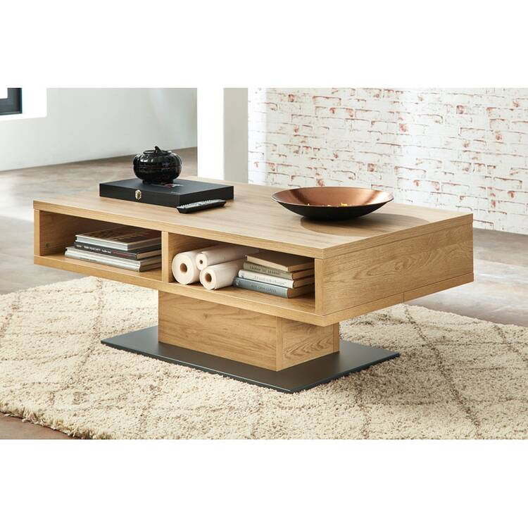 living room complete set bozen 36 incl led lighting wild oak solid wood front with sideboard coffee table