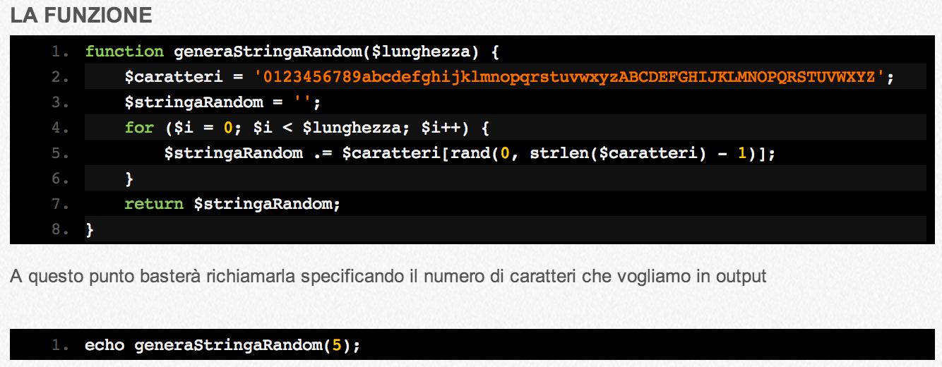 Generare Stringhe Random In Php Pillola Andrea Lombardo