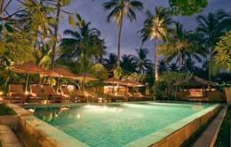 Pool View of Qunci Villa