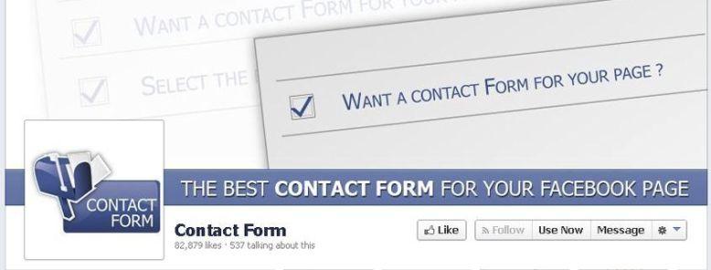 Como crear un formulario de contacto en tu página de Facebook