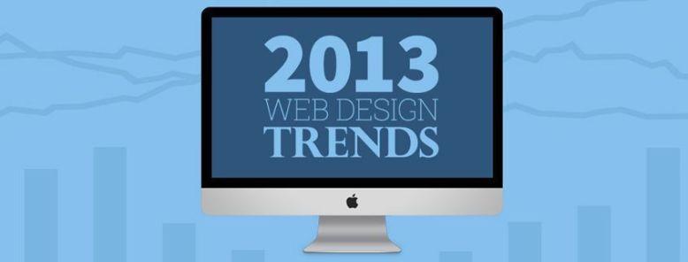 Las 12 principales tendencias en diseño web para 2013