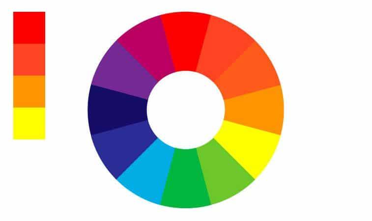 Teoría de los colores - Los colores cálidos