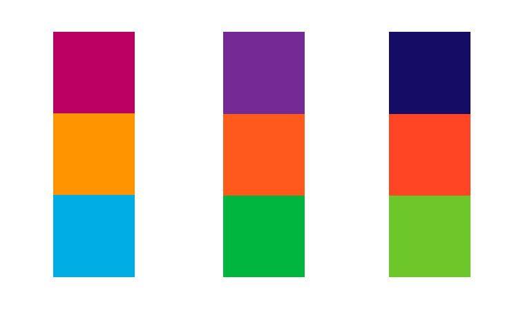 Teoría de los colores - Triadas