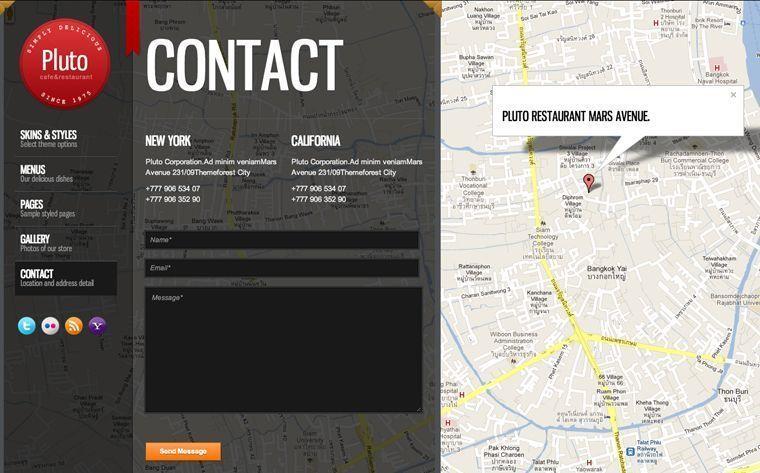 Diseño de páginas web para restaurantes y cafeterías - Contacto