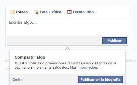 Abrir página de empresa en Facebook - Compartir