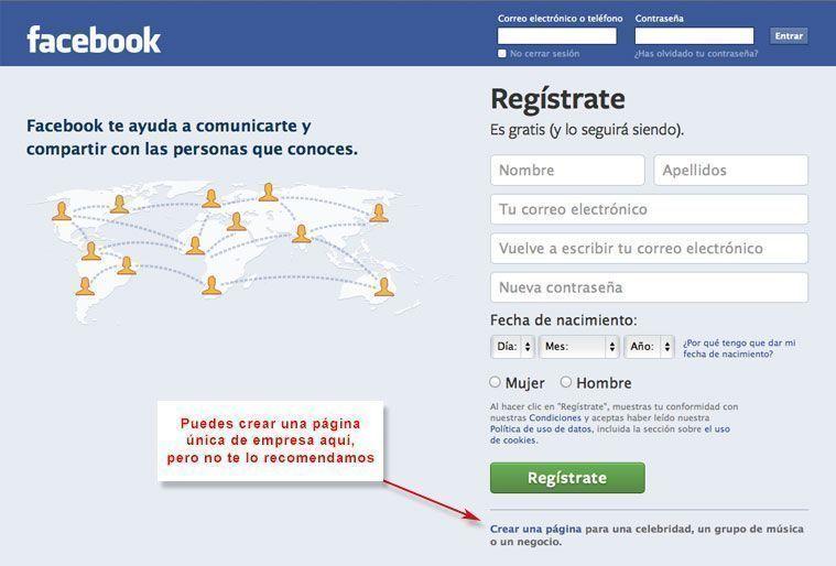 Crear perfil personal en Facebook