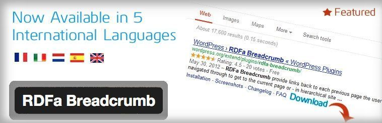 Plugin SEO de WordPress - RDFa Breadcrumb