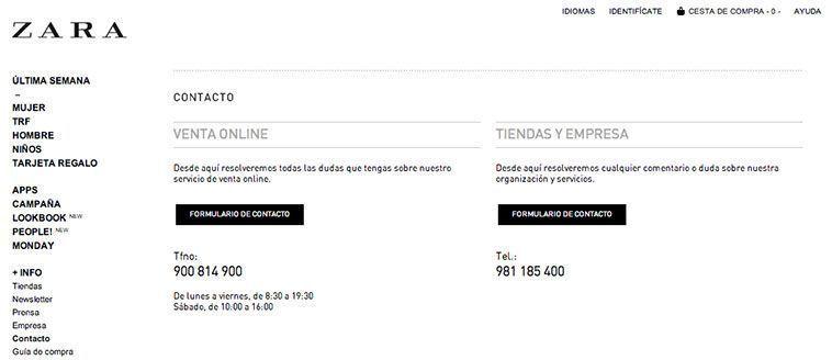 Trucos diseño de tiendas virtuales exitosas - Contactar