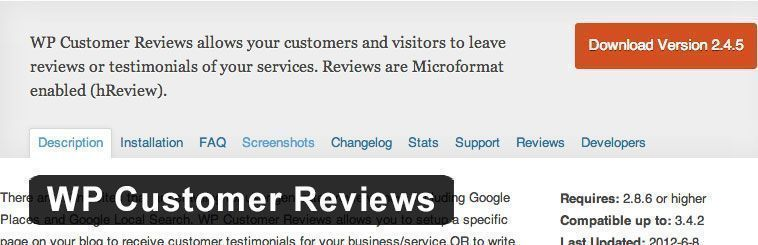 Plugin SEO de WordPress - WP Customer Reviews